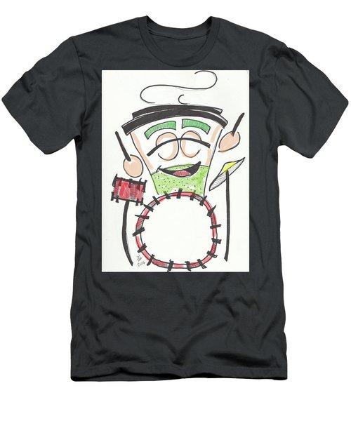 Latte Drummer Men's T-Shirt (Athletic Fit)