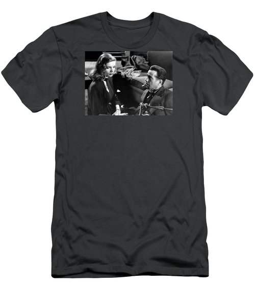 Lauren Bacall Humphrey Bogart Film Noir Classic The Big Sleep 1 1945-2015 Men's T-Shirt (Athletic Fit)