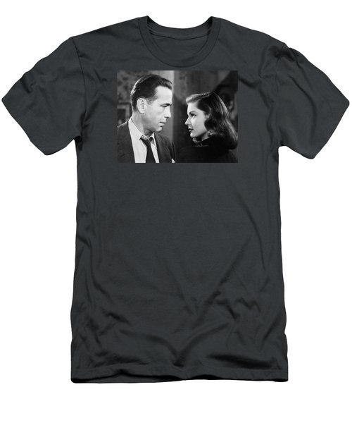 Lauren Bacall Humphrey Bogart Film Noir Classic The Big Sleep 2 1945-2015 Men's T-Shirt (Athletic Fit)