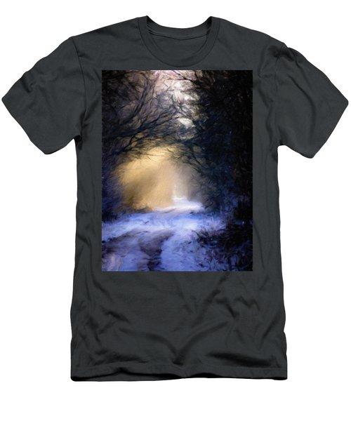 Lavander Snow  Men's T-Shirt (Slim Fit) by Michele Carter