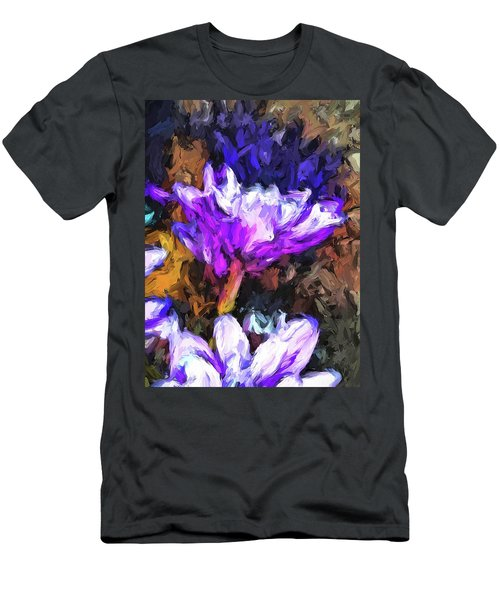 Lavender And White Flower With Reflection Men's T-Shirt (Athletic Fit)