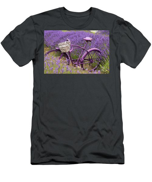 Lavender Bike Men's T-Shirt (Athletic Fit)