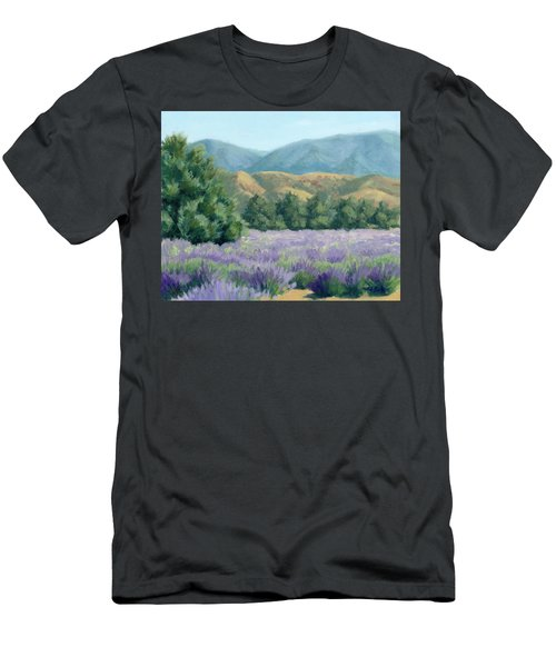 Lavender, Blue And Gold Men's T-Shirt (Slim Fit) by Sandy Fisher