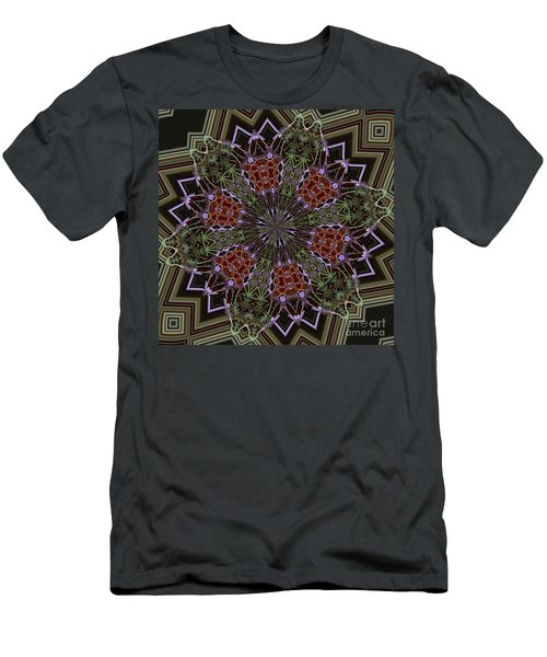 Lavender Mandala 1 Men's T-Shirt (Athletic Fit)