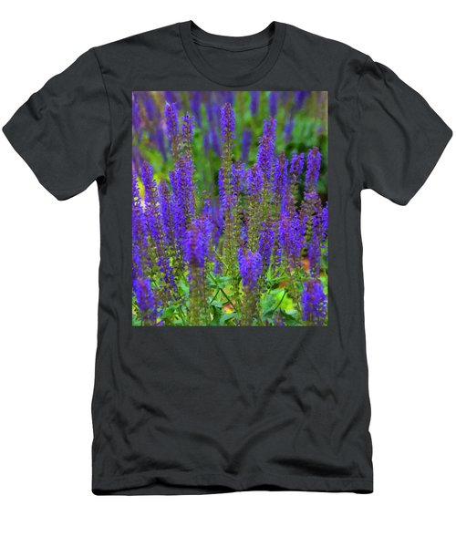 Men's T-Shirt (Slim Fit) featuring the digital art Lavender Patch by Chris Flees