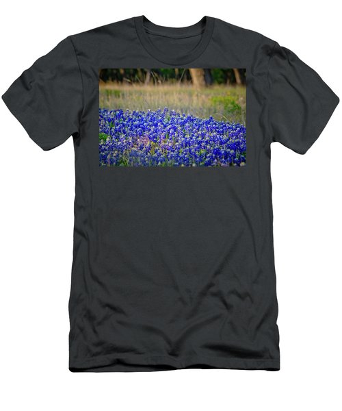 Men's T-Shirt (Slim Fit) featuring the photograph Layers Of Blue by Linda Unger