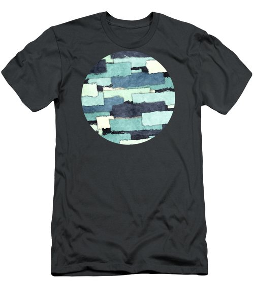 Layers Of Colors Pattern Men's T-Shirt (Slim Fit) by Phil Perkins