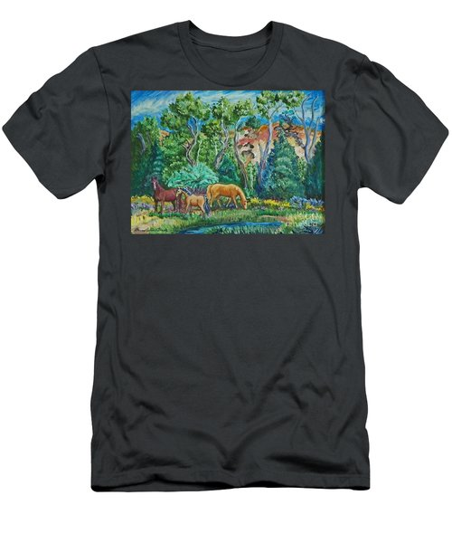 Lazy Wyoming Afternoon Men's T-Shirt (Athletic Fit)