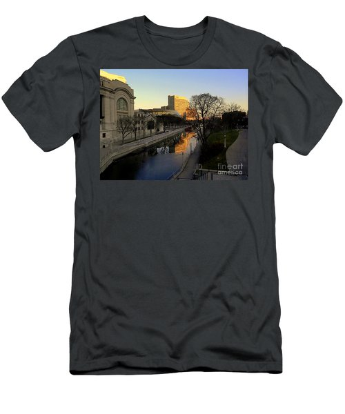 Men's T-Shirt (Slim Fit) featuring the photograph Le Rideau, by Elfriede Fulda