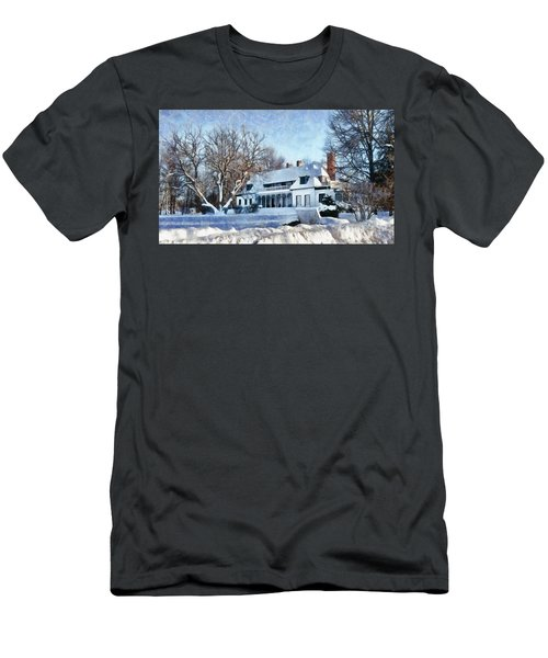 Leacock Museum In Winter Men's T-Shirt (Athletic Fit)