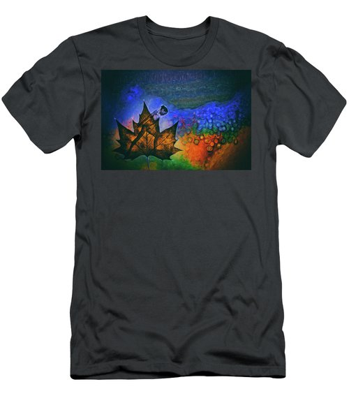 Men's T-Shirt (Slim Fit) featuring the photograph Leaf Dancer by James Bethanis