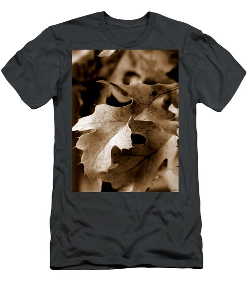Leaf Study In Sepia IIi Men's T-Shirt (Athletic Fit)
