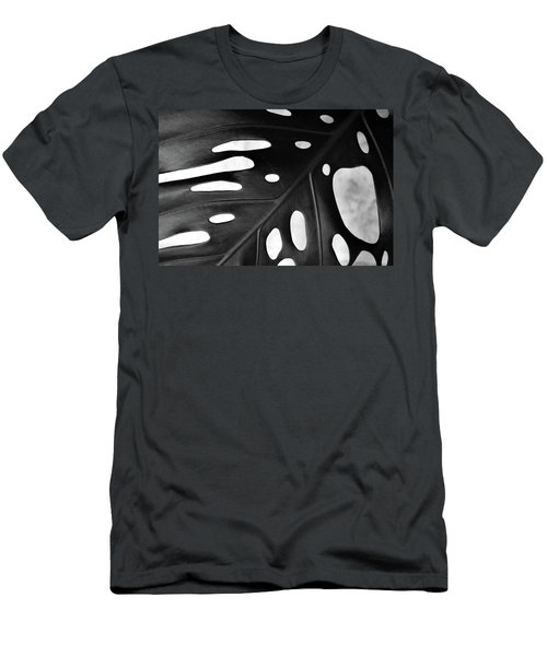 Leaf With Holes Men's T-Shirt (Athletic Fit)