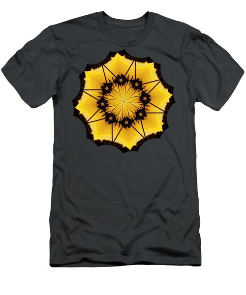 Leafy Kaleidoscope 2 Men's T-Shirt (Slim Fit) by Lori Kingston