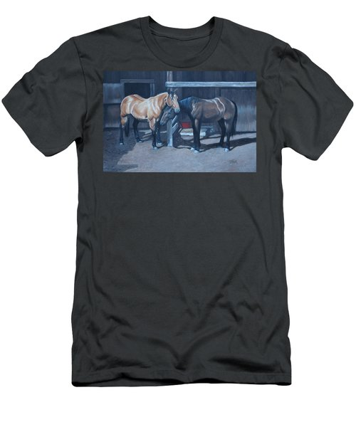 Men's T-Shirt (Athletic Fit) featuring the painting Lean On Me by Tammy Taylor