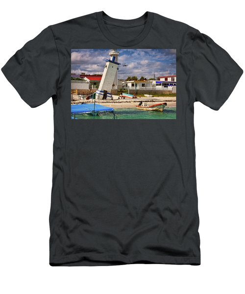 Leaning Lighthouse Men's T-Shirt (Athletic Fit)