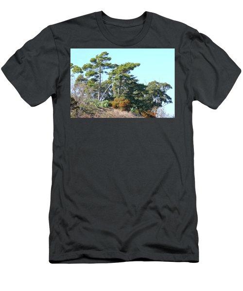 Leaning Trees On Hillside Men's T-Shirt (Athletic Fit)
