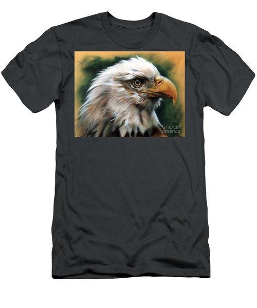 Leather Eagle Men's T-Shirt (Slim Fit) by J W Baker