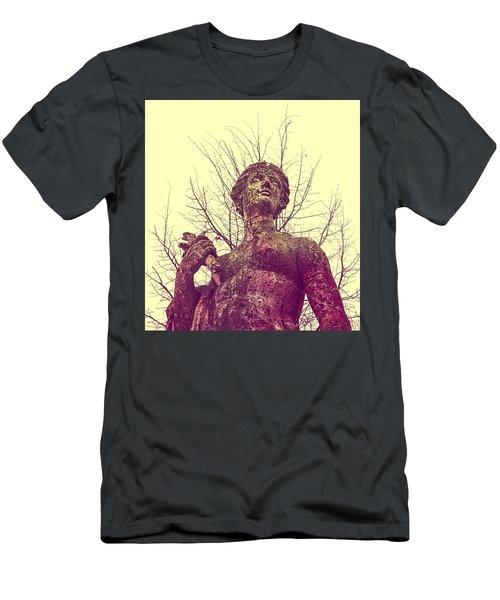 'l'eau Ou La Mer' En Rose Men's T-Shirt (Athletic Fit)