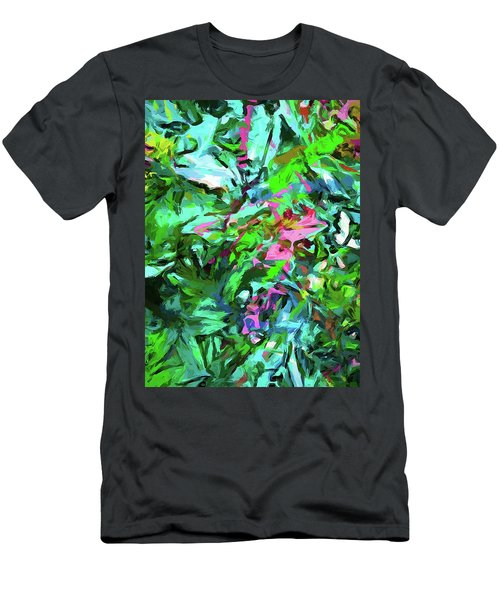 Leaves Buds Green Pink Men's T-Shirt (Athletic Fit)