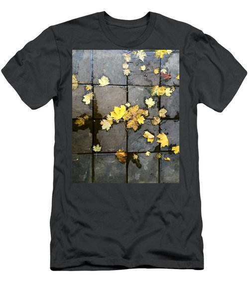 Leaves On Slate Men's T-Shirt (Athletic Fit)