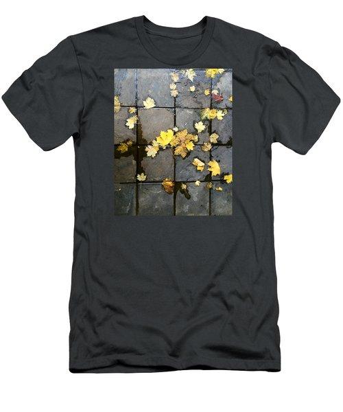 Leaves On Slate Men's T-Shirt (Athletic Fit)
