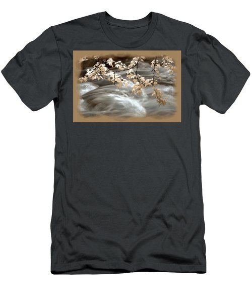 Leaves Over Gossamer Waters Men's T-Shirt (Athletic Fit)