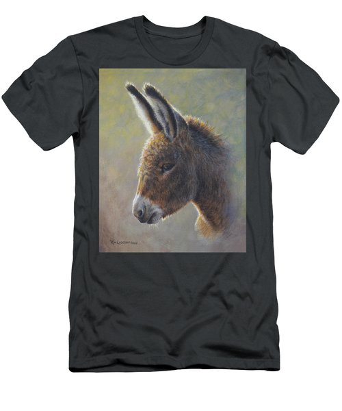 Men's T-Shirt (Slim Fit) featuring the painting Lefty by Kim Lockman