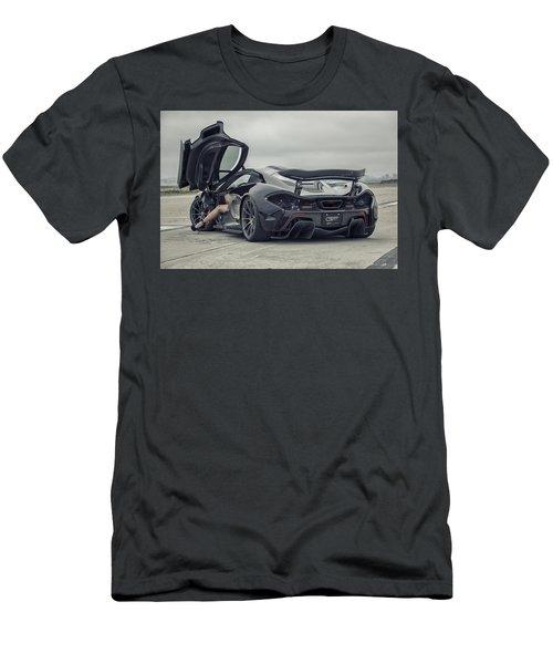 #mclaren #mso #p1 #wheels And #heels Men's T-Shirt (Athletic Fit)