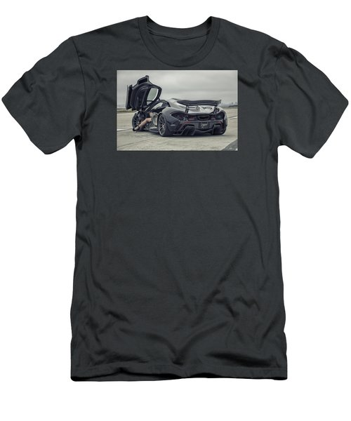 #mclaren #mso #p1 #wheels And #heels Men's T-Shirt (Athletic Fit)