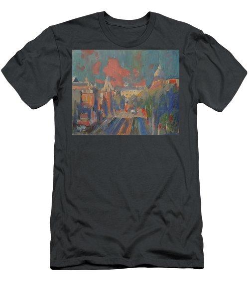Leidse Plein Red Cloud Men's T-Shirt (Athletic Fit)