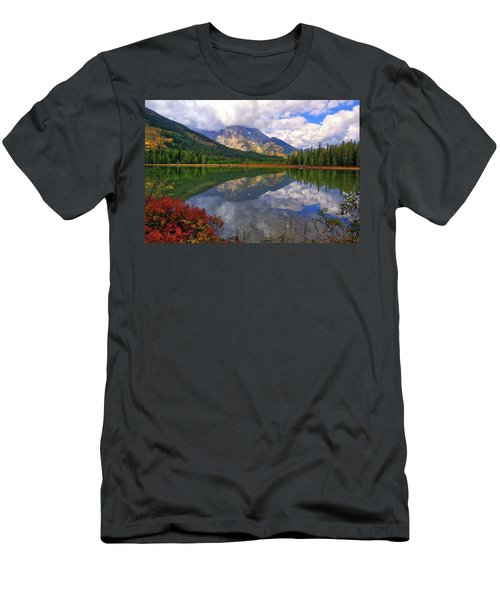 Leigh Lake Morning Reflections Men's T-Shirt (Athletic Fit)