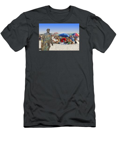 Lenin Goes To The Beach  Men's T-Shirt (Athletic Fit)