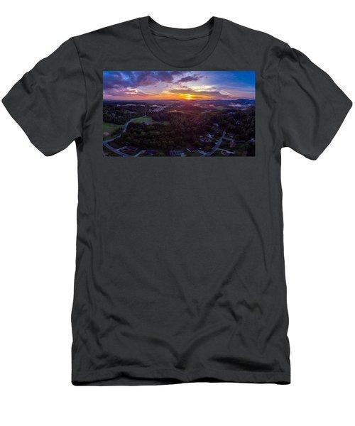 Lenoir North Carolina  Sunset Men's T-Shirt (Athletic Fit)