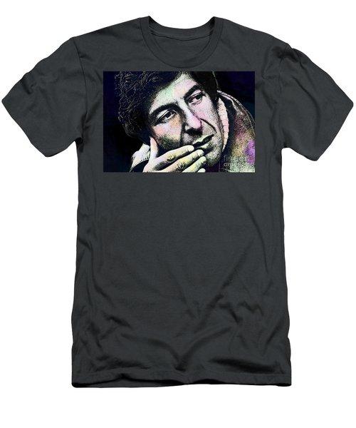 Leonard Cohen - Drawing Tribute Men's T-Shirt (Athletic Fit)
