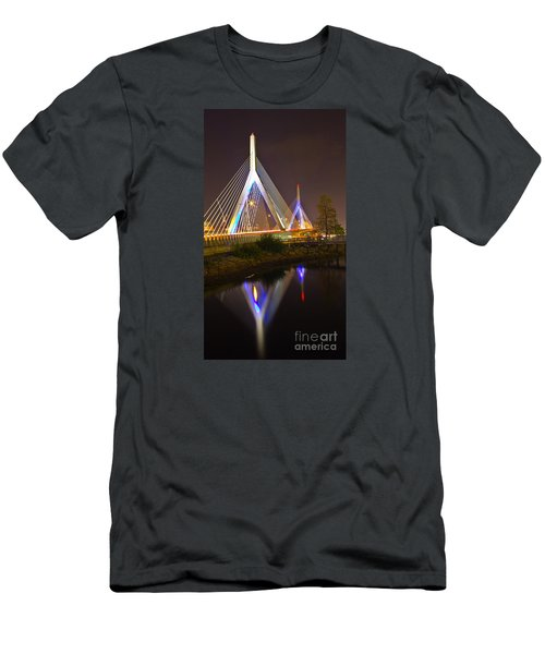Leonard P. Zakim Bunker Hill Bridge Reflection Men's T-Shirt (Athletic Fit)