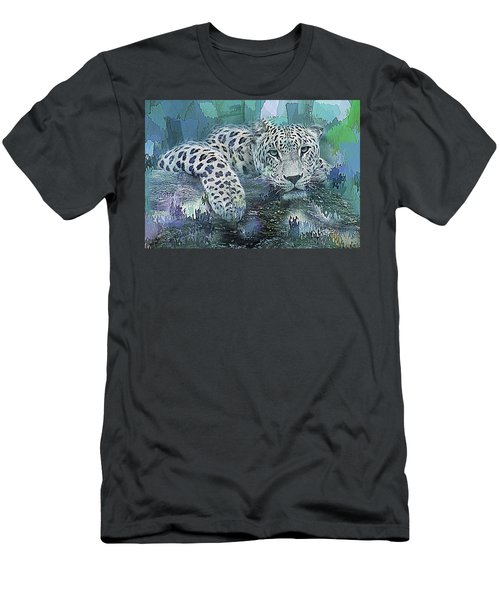 Leopard Abstract Men's T-Shirt (Slim Fit) by Galen Valle