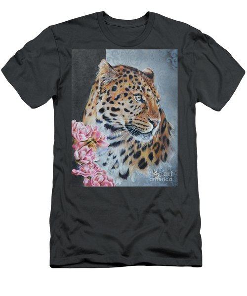 Leopard And Roses Men's T-Shirt (Athletic Fit)