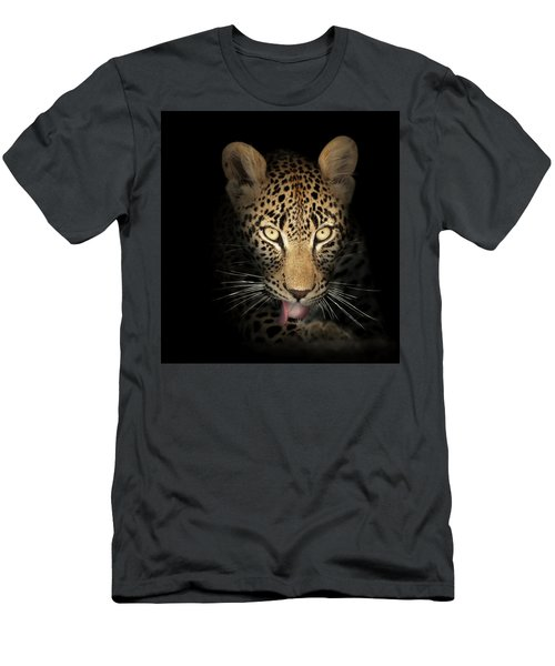 Leopard In The Dark Men's T-Shirt (Athletic Fit)