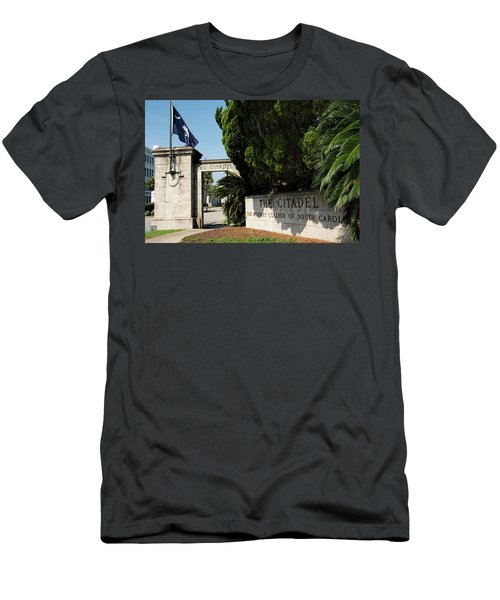 Lesesne Gate Men's T-Shirt (Slim Fit) by Ed Waldrop