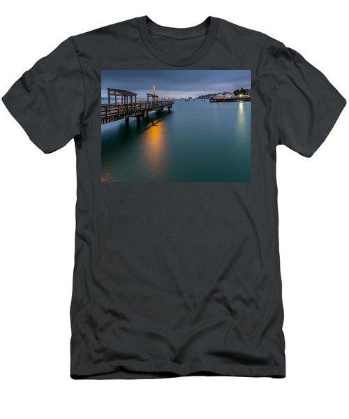 Less Davis Pier Commencement Bay Men's T-Shirt (Athletic Fit)
