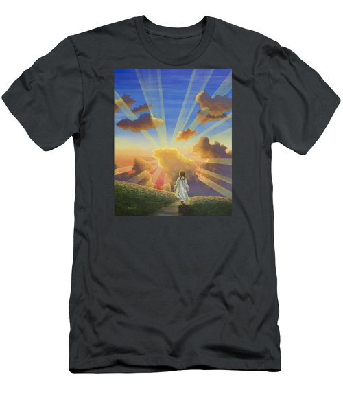 Let The Day Begin Men's T-Shirt (Slim Fit) by Jack Malloch
