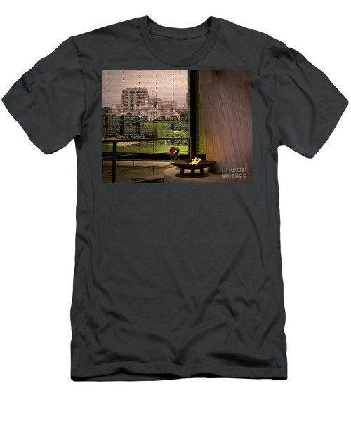 Men's T-Shirt (Slim Fit) featuring the photograph Let The Flame Never Die by Melissa Messick