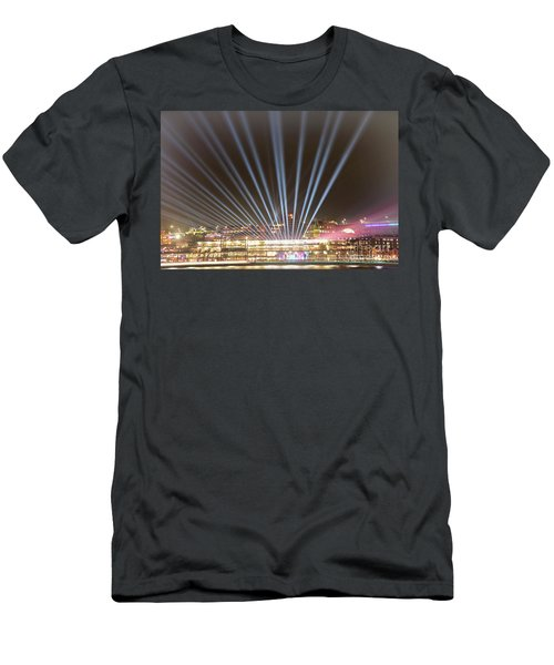 Let There Be Light By Kaye Menner Men's T-Shirt (Athletic Fit)
