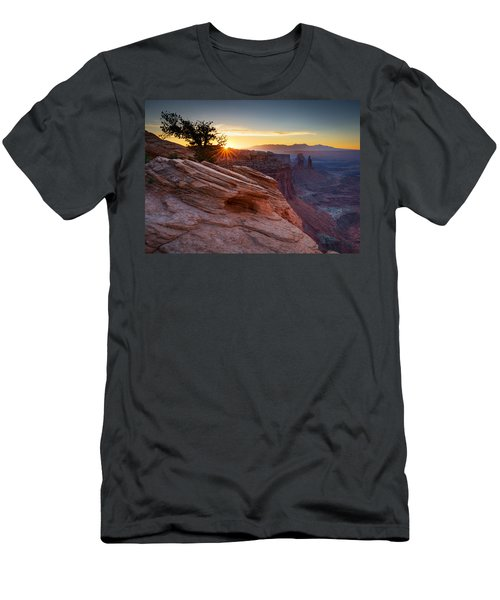 Men's T-Shirt (Slim Fit) featuring the photograph Let There Be Light by Dan Mihai
