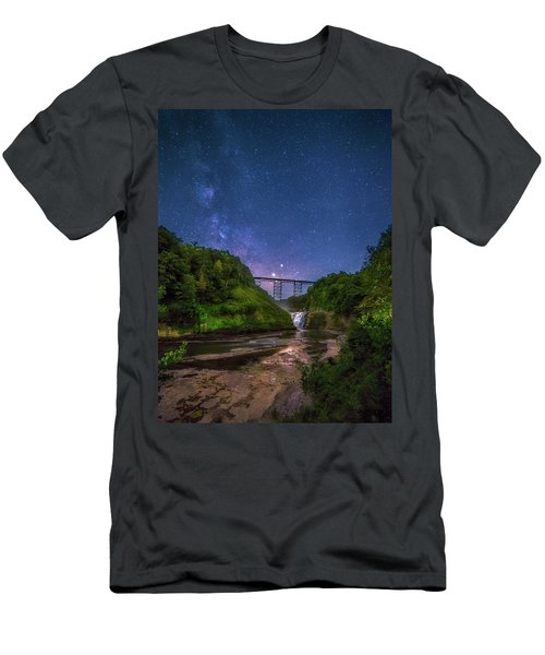 Letchworth At Night Men's T-Shirt (Slim Fit) by Mark Papke