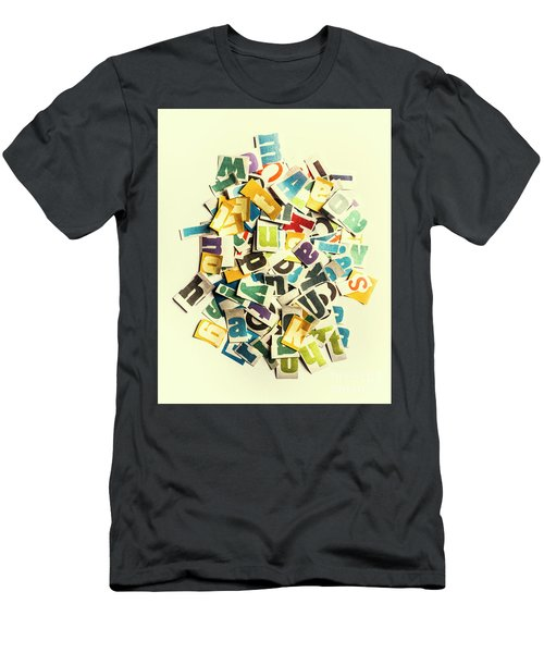 Letters In Jumble Men's T-Shirt (Athletic Fit)