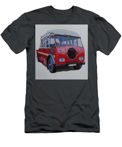 Men's T-Shirt (Slim Fit) featuring the painting Leyland Wrecker Cie by Mike Jeffries