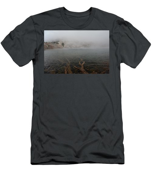 Liberty Lake In Fog Men's T-Shirt (Slim Fit) by Jenessa Rahn