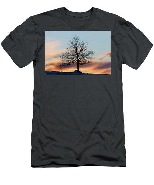 Liberty Tree Sunset Men's T-Shirt (Slim Fit)